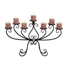 Benzara Kool Candelabra Centerpiece With Iron Alloy