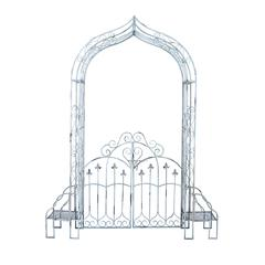Sturdyg Metal Garden Gate In Black Finish