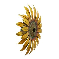 "Realistic And Captivating Sunflower Bird House 16""D"