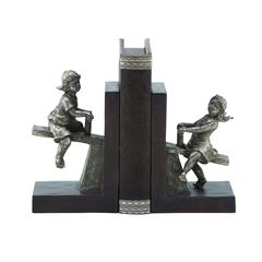 Polystone Boy/Girl Bookend Pair With Versatile Decor Appeal