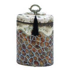 Benzara Ceramic Jar With Beautiful Shades And Smooth Finish