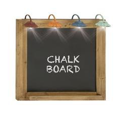 "Benzara Wood Lite Blackboard 24""W, 26""H"