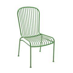 Benzara The Evergreen Metal Chair Green