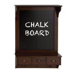 Benzara The Nostalgic Wood Chalkboard Shelf
