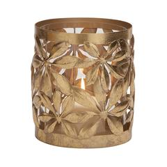 Benzara Magnificent Styled Metal Glass Candle Lantern