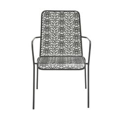 Benzara Chic Looking Metal Outdoor Chair