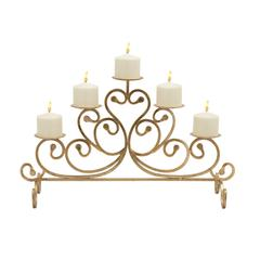 Alluringly Styled Metal Candelabra