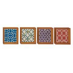 Benzara Exclusive Wood Wall Decorative 4 Assorted