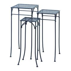 "Benzara Elegant Set Of Three Square Plant Stands 3/S 28"", 26"", 24"""