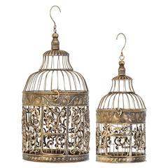 Metal Bird Cage S/2 Bird Keeping With Decor Sense