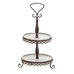 The Cool Metal Glass 2 Tier Tray