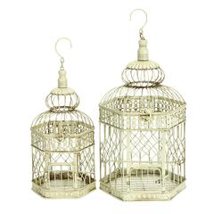 Metal Bird Cage S/2 Comfortable Home Stay For Birds