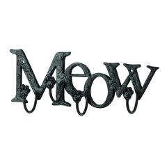 Cute Cat Wall Hook With Meow Message