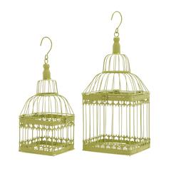 Benzara Bird Cage With Unique And Solid Design - Set Of 2