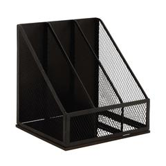 Benzara Black Polished Attractive Metal Magazine Rack
