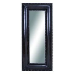 Wood Leather Mirror Royal Look
