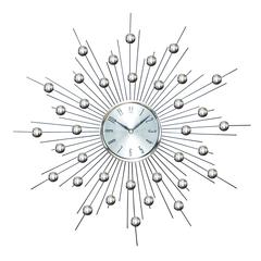 Benzara Metal Wall Clock Wall Clock Featuring Star Burst