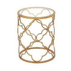 Superb Metal Glass Accent Table
