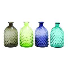 Set Of 4 Colorful Glass Vase