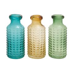 Benzara The Thick Glass Vase 3 Assorted