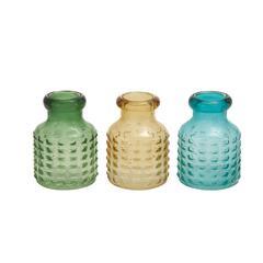 Benzara The Sweet Glass Vase 3 Assorted