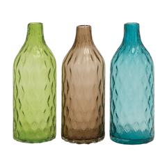 Unique Styled Glass Vase 3 Assorted