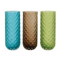 Benzara Enthralling Styled Glass Clear Vase