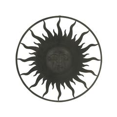 Benzara Charming Metal Outdoor Sun Face Wall Plaque