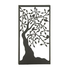 Benzara Elegant Metal Outdoor Tree Wall Plaque