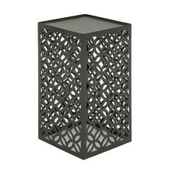 Appealing Metal Outdoor Accent Table