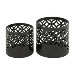 Beautiful Set Of Two Metal Outdoor Planter