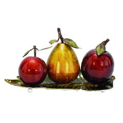 Benzara Metal Fruit Decor With Message Of Health And Fitness