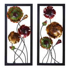 Benzara Metal Wall Decor 2 Asst Comes In A Set Of Two