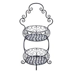 Benzara Old Era Two Tier Treat Basket Stand