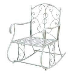 Old Classic Themed Outdoor Rocking Arm Chair