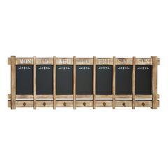"""Reminder Wood Board W Hooks 52""""W, 17""""W"""