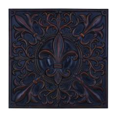 Benzara Impressive Fleur-De-Lis Themed Wall Plaque Décor