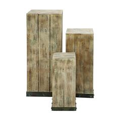 Mastercraft Wood Pedestal Set For Your Décor Items