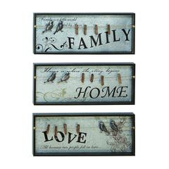 Benzara Inspirational Wall Plaque With Photo Clips