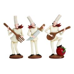 Polystone Chef Set Of 3 Assorted Amazingly Low Priced