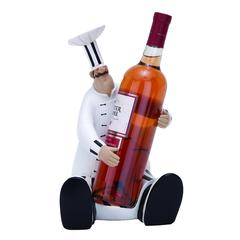 "Benzara Fat Chef - Polystone Chef Wine Holder 12""H, 7""W"