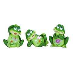 Casual Frog Decor 3 Assorted Soft Green In Shade & Versatile