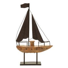 Benzara Nautical Theme Sailboat Décor With Waving Flag