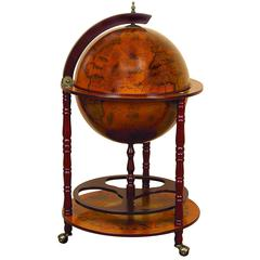 Benzara Wood World Globe Bar Needed To Entertain Guests