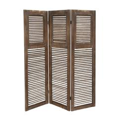 Classy Styled Wood 3 Panel Screen