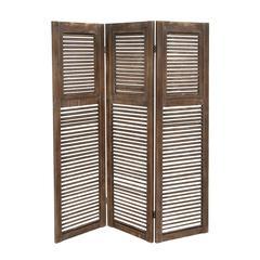 Benzara Classy Styled Wood 3 Panel Screen