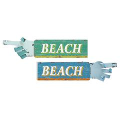 Fascinating Styled Wood Beach Sign 2 Assorted