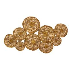 Benzara Circular Patterned Fancy Metal Wall Decorative