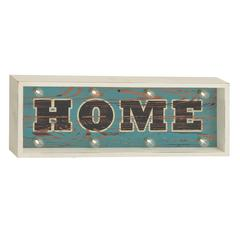 "Benzara Radiant Wood Led Home Sign 26""W, 10""H"