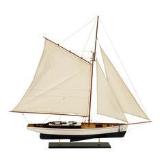 Benzara Wood Ship Nautical Decor Love